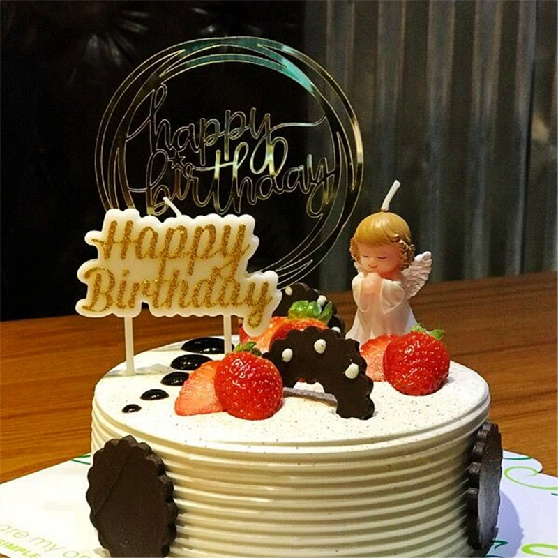 candle cake decorating supplies birthday baby kids children decoration party wings angel