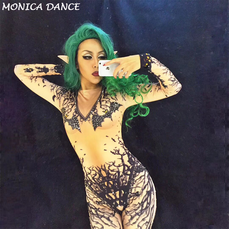 Djds Danse 3d Pour De Danseur Jumpsuit Bat Djgogo Costumes Discothèque Nouveau Sexy Femmes Costume Stade Halloween B6I6wq8gx