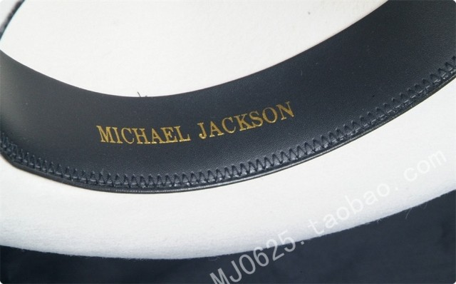 WOW 2pcs MICHAEL JACKSON White&Black Hats Fedora Smooth Criminal&Billie Jean Classic Fedora with name