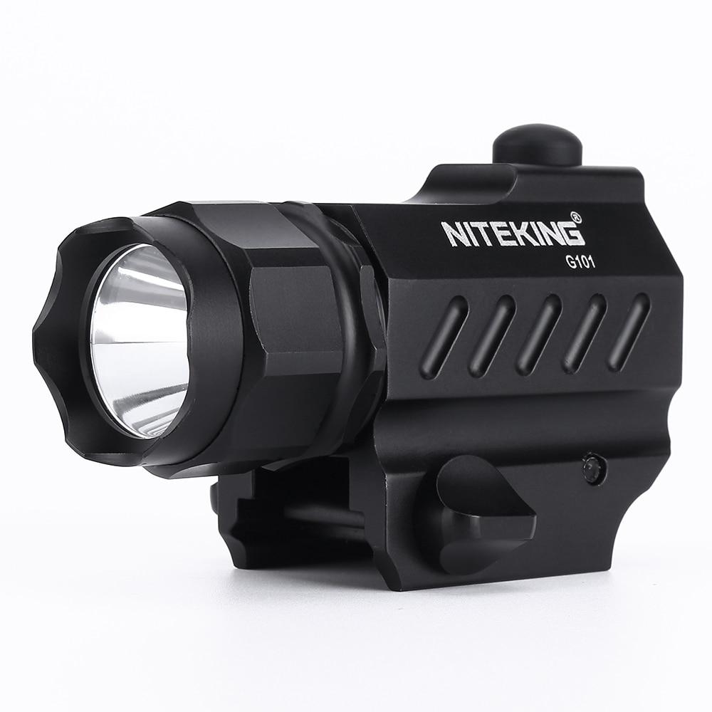 NITEKING G101 Gun Tactical Flashlight 2Mode 1600LM тапаншасы қолғап алау шамы жарықсыз Ауа райы Тасымалды шамдар аң аулау спорт түрлері