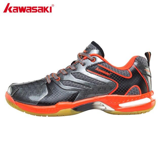 buy popular ae751 fd9b1 US $112.77 |KAWASAKI Scarpe Da Badminton Professionale Pavimento IN PVC  Nero Mens Scarpe Da Tennis scarpe Da Tennis di Sport di Usura resistenza K  612 ...
