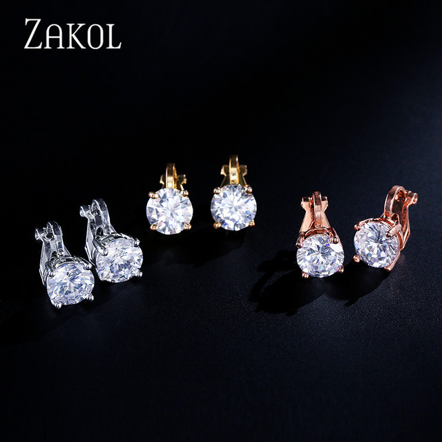 Clip Earrings Crystal Fashion Womens Jewelry  4
