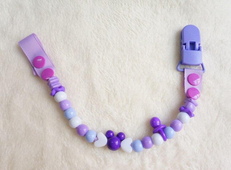 MIYOCAR säker många färger pärlor handgjorda pacifier klipp / - Äta och dricka - Foto 5