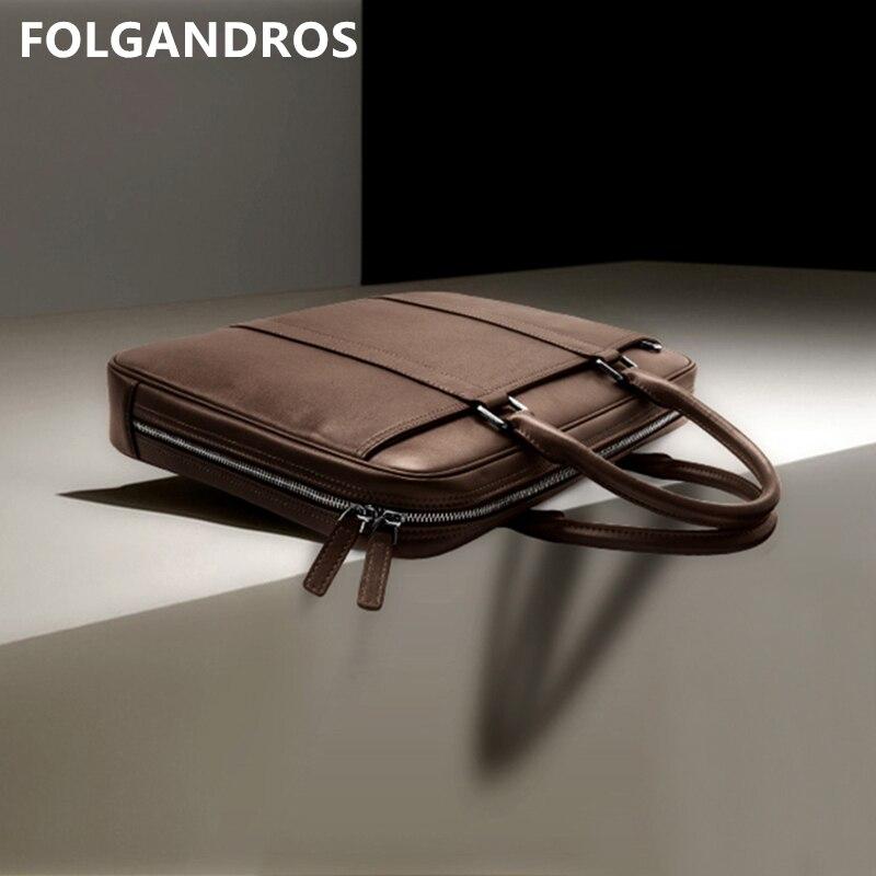 2019 Brand Genuine Leather Bag Men' Designer Handbags High Quality Shoulder Bag Versatile Vintage Messenger Business Laptop Bag