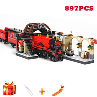 16055 Harri Movie Potter 832pcs The Hogwarts Express Train Model Compatible with Legoings Train 75955 Set Building Blocks