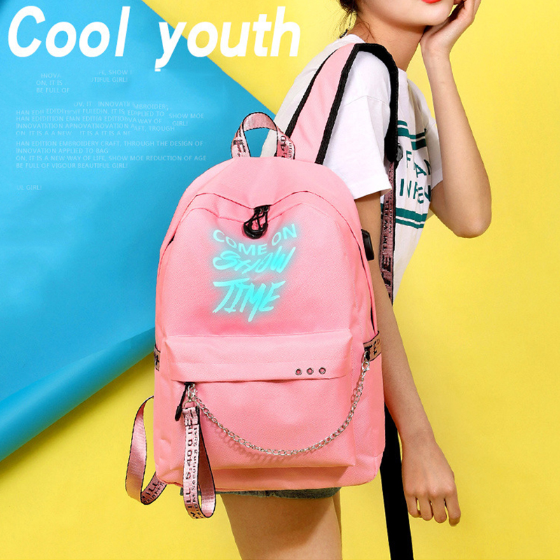 Girls Luminous Chain Back to School Backpack 2