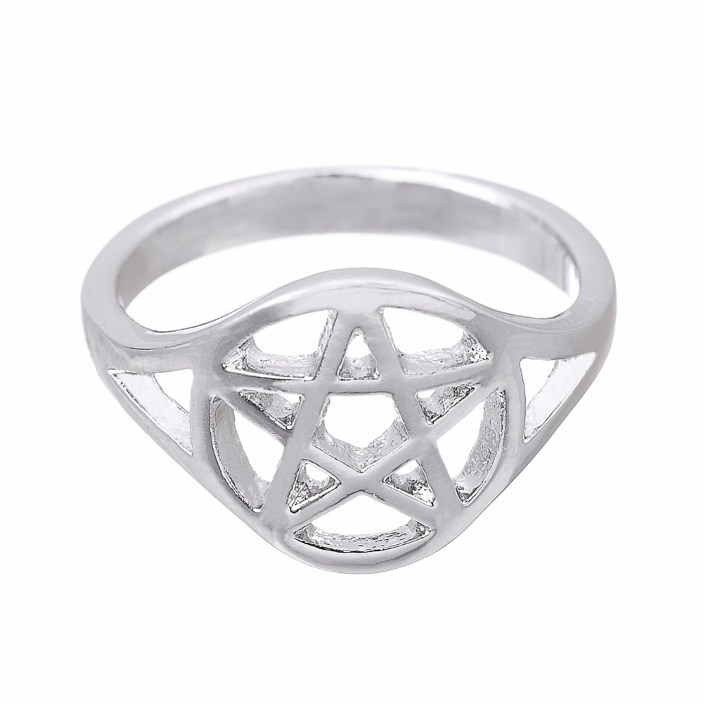 lemegeton trendy drop ship 75mm bulgaria punk jewelry pentagram viking antique ring men wicca fashion - Wiccan Wedding Rings