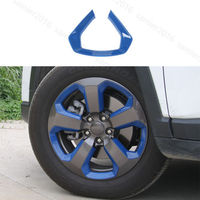 Blue 20pcs Fit For Jeep Compass 2017 Auto Wheel Round Decorator Frame Cover Trim