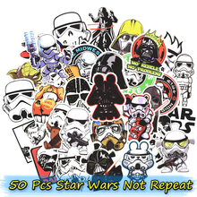 50 pcs Mixte Star Wars Autocollants pour Skateboard Ordinateur Portable Bagages Moto Téléphone De Voiture Vélo Cool Graffiti Autocollants Imperméables