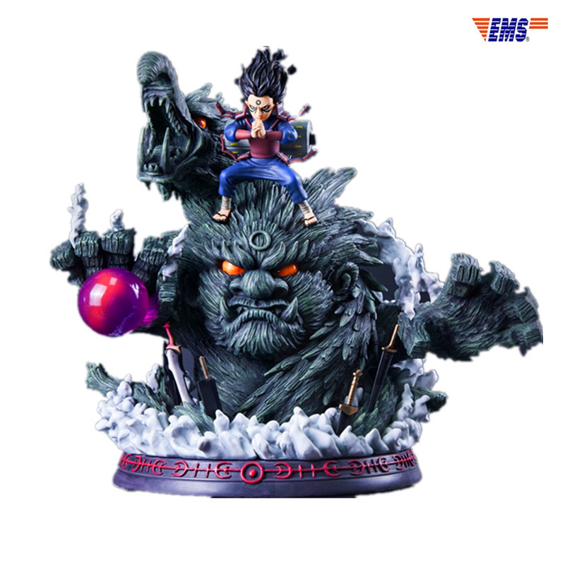 Contre série Naruto Shodai Hokage Senju Hashirama bois Dragon GK résine Statue figurine limitée modèle X342