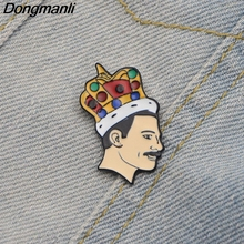 L2269 Freddie Mercury Singer band Music Art Enamel Pins and Brooches for Women Men Lapel pin backpack bags badge kids Gifts