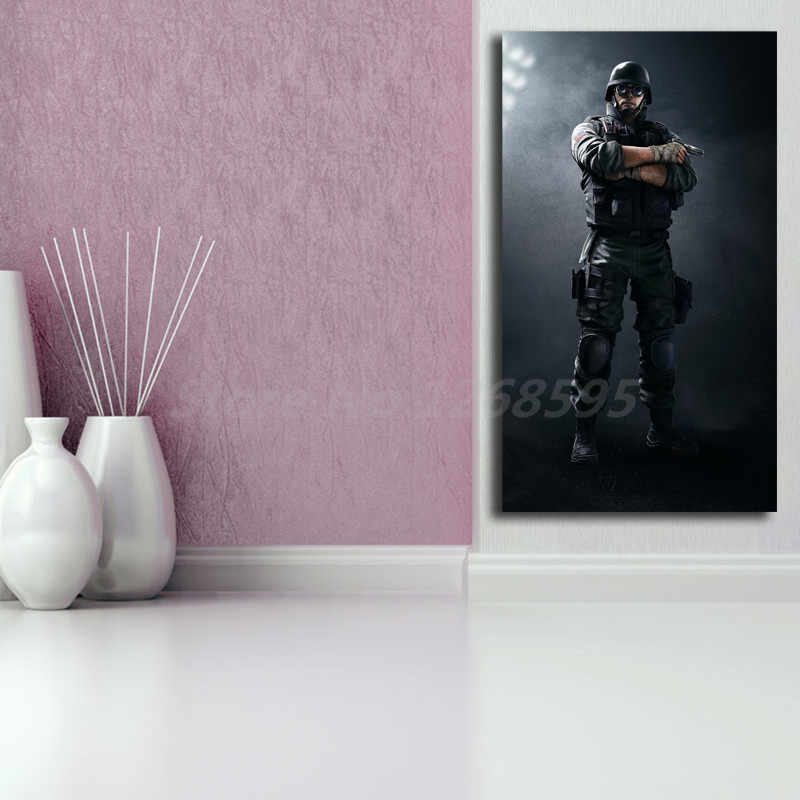 Tom Clancy's Rainbow Six Siege FBI SWAT Thermite Wallpaper Art Canvas  Poster Painting Wall Picture Print Home Bedroom Decoration