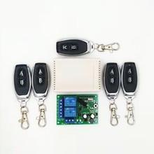433 МГц универсальный беспроводной пульт дистанционного управления AC 250 в 110 В 220 В 2CH релейный модуль приемника и 2 шт. RF 433 МГц пульт дистанционного управления s