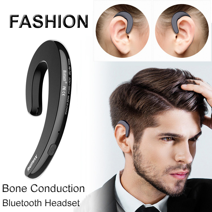 Newest Bluetooth Earphone No Earbud Design Wireless Headset with Mic bone conduction ear-hook headphones for iPhone 7 6s Xiaomi