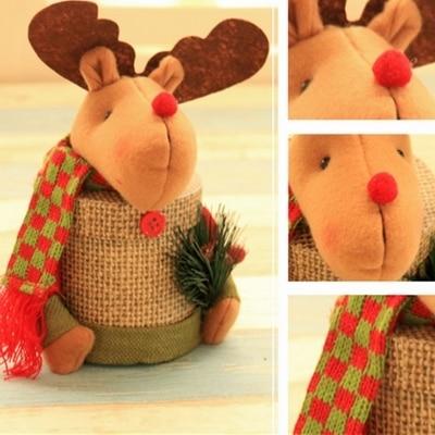 Deer Plastic christmas ornament storage boxes 5c64fa35232c5