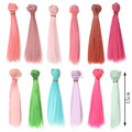 1 шт. 15 см * 100 СМ кукла Парики/волос refires bjd волос прямой парик волос для 1/3 1/4 BJD/SD diy Моделирование Розовый Зеленый Синий