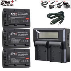 3 pc NP-FV50 NP FV50 NPFV50 akumulator litowo-jonowy + LCD podwójny ładowarka do Sony NP-FV50 HDR CX390 290E PJ510 820E 790E 660E XR260 CX700E