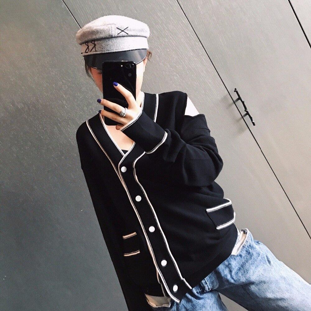 Chandail Femmes Encolure Ddxgz3 2018 Sexy Cardigans Tricoté ZEaxOXwq