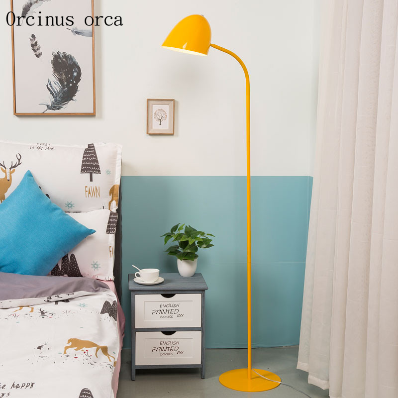 Nordic post modern minimalist LED coloured floor lamp living room study American style creative personality vertical floor lamp