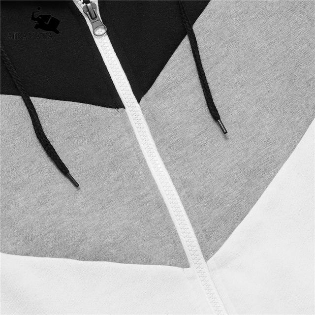 New Arrival 2017 Mens Hoodies Funny Hooded Sweatshirts Patchwork Clothing For Men Famous Brand Sweatshirts Fleece Zipper Hoodies