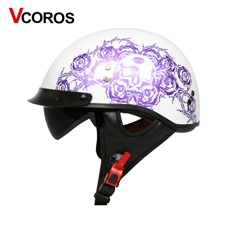 VCOROS Fiber glass Harley Style Motorcycle Helmet Half Face motorbike Helmet with inner sun lens vespa moto helmets DOT approved 4kg refill laser copier color toner powder kits for xerox 113r00692 113r00689 113r00690 phaser 6120 6115mfp 6115 6120mfp printer