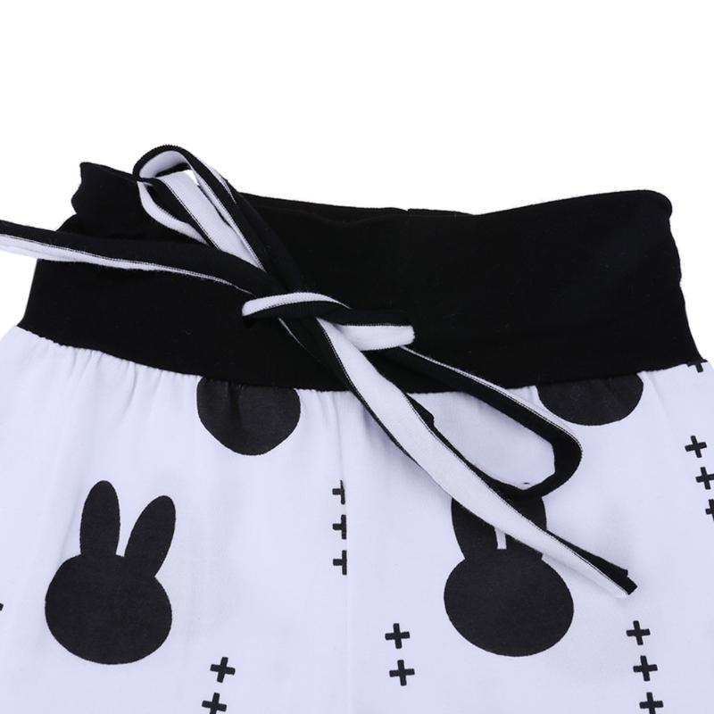 chinatera 2pcs/Set Baby Boys Gils Clothes Long Sleeve Romper+Rabbit-Printed Long Pants Kids Clothes Clothing Set
