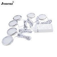 Led under cabinet light for closet kitchen wardrobe 110V 220V 12V luz armario hallway lampara cupboard 1 set dropshipping Joneaz