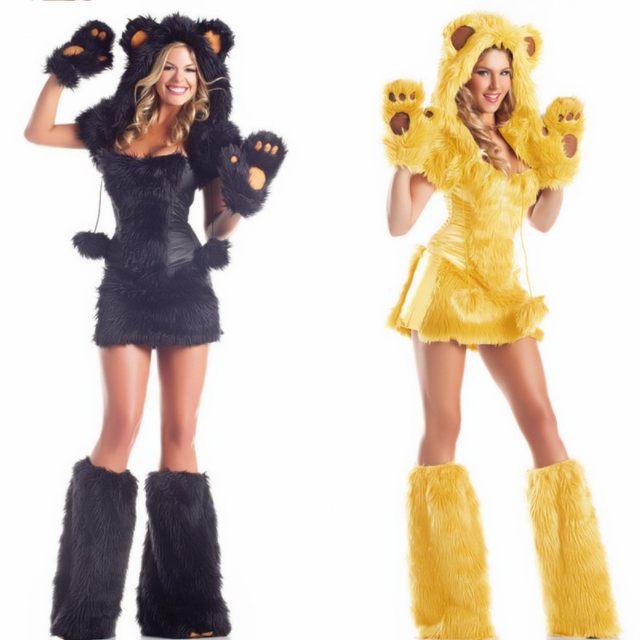 New fashion Halloween cosplay Costumes Sexy lion Panda plush animals loaded Temptation Set Cat girl Witch costume  sc 1 st  Aliexpress & Online Shop New fashion Halloween cosplay Costumes Sexy lion Panda ...