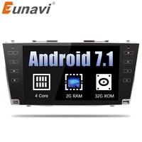 Eunavi 9 ''1024*600 2 din Android 7,1 автомобилей Радио gps стерео для toyota camry 2007 2008 2009 2010 2011 с bluetooth, Wi Fi RDS USB