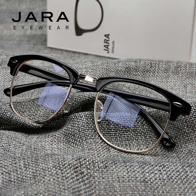 JARA Radiation Protection Rivet Frame Eyeglasses Men Women Anti-Blue Ray Brand Classic Computer Glasses Anti-fatigue Goggles