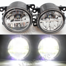 For RENAULT FLUENCE (L30) 2010-2015 For Front Bumper High Brightness LED Fog Lights Lamps Car Styling White 1Set 1set car styling fog lights halogen lamps 26150 8990b for nissan juke 2010 2015