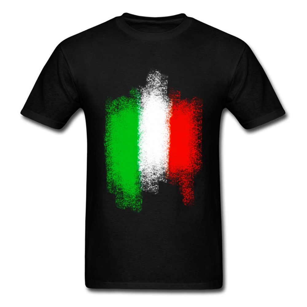 Italy Flag T Shirts Men T-shirt New Arrival Black Tshirts Short Sleeve Gift Cotton O Neck Clothes Summer Tops & Tees Labor Day