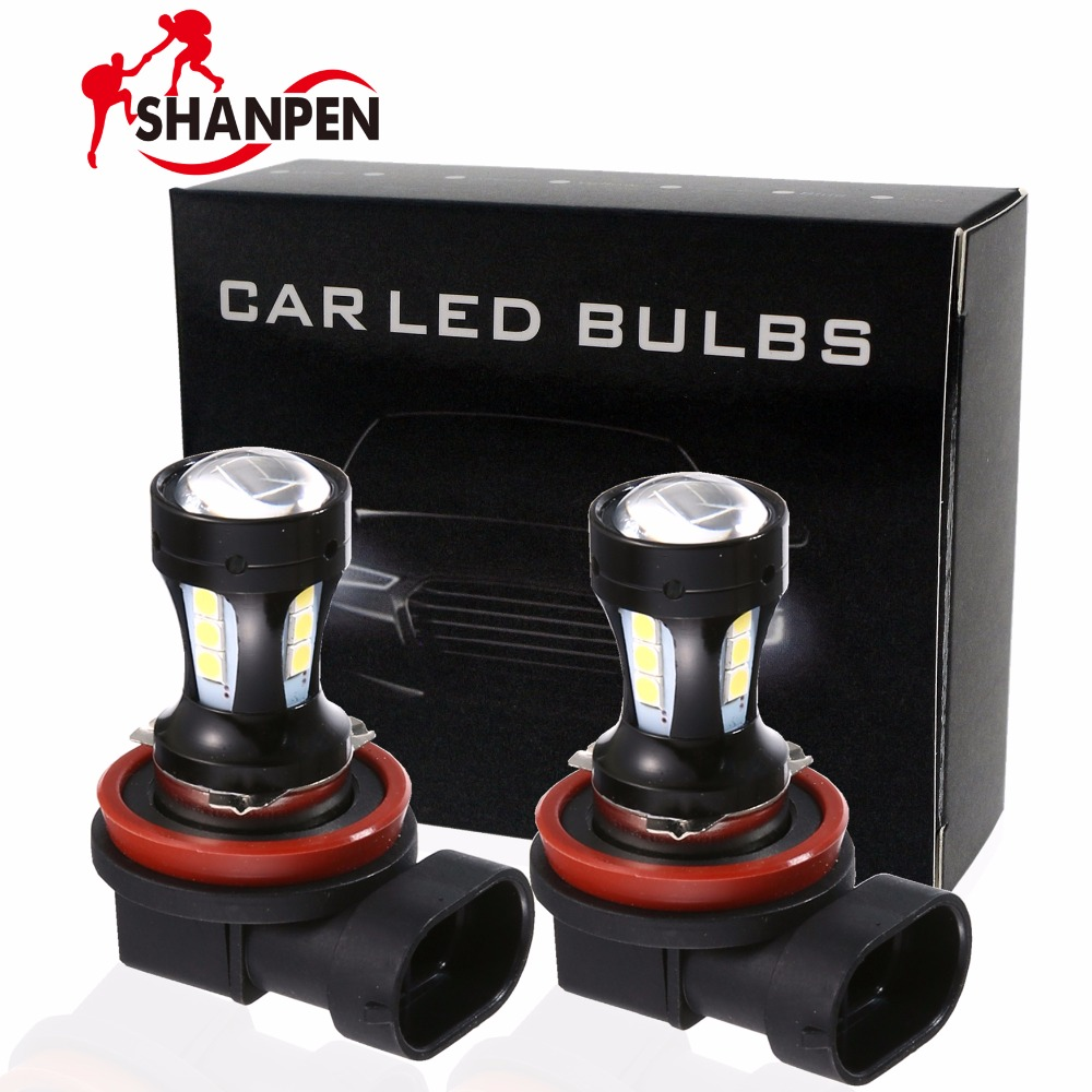 2X Car LED H8 H9 H11  3030 18LED 18W Bulb Car Fog Light Lamp White 6000K