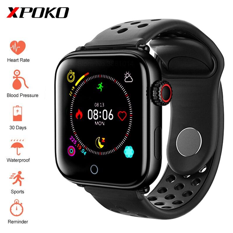 Homens Smartwatch À Prova D' Água Relógio inteligente Com Monitor de Freqüência Cardíaca Relógios de Pressão Arterial Pulseira De Fitness Para iPhone iOS Android