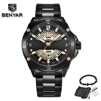 New BENYAR Fashion Men Watches Male Top Brand Luxury Quartz Watch Men Casual Waterproof Sports WristWatch date Relogio Masculino