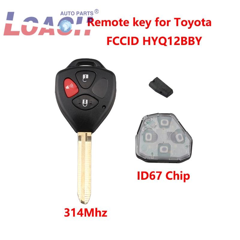 2 For 2007 2008 2009 2010 2011 2012 2013 Toyota Yaris Keyless Remote Car Key Fob