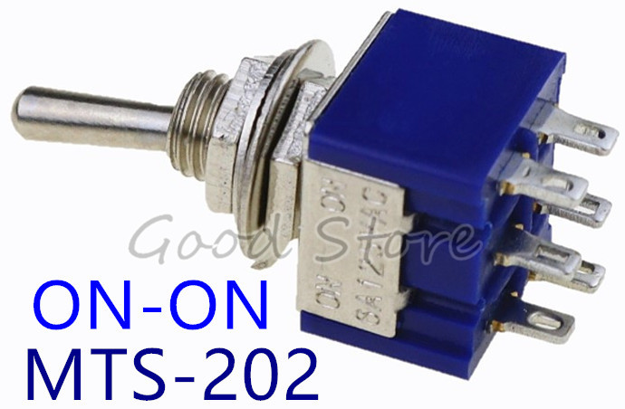 Home Appliance Parts Good Ac125v 6a Dpdt On-on 2 Positions 6 Pin Latching Miniature Toggle Switch 20pcs