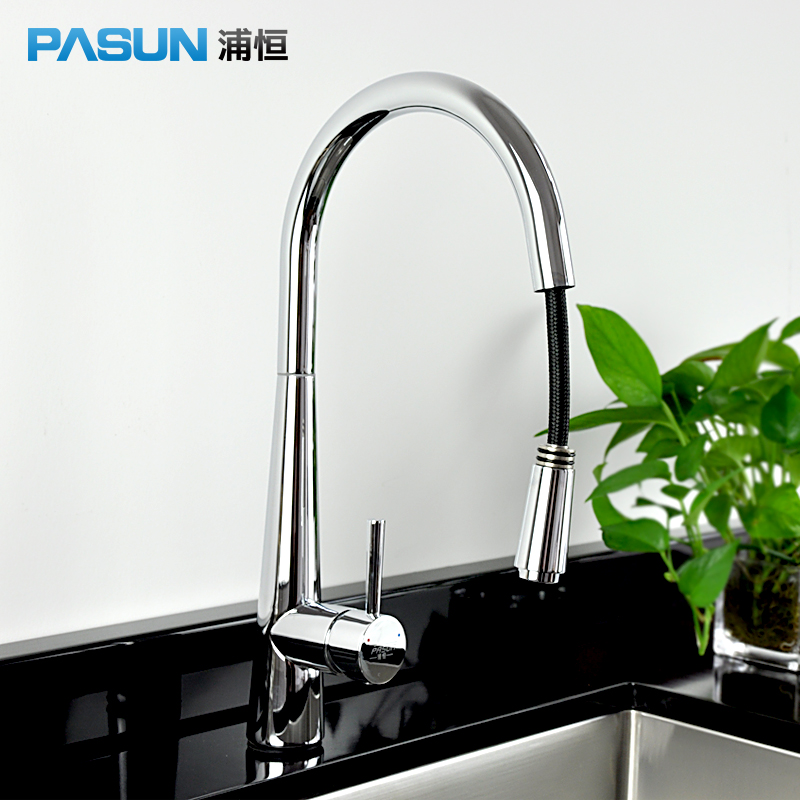 gree rotating pulling lead free kitchen full copper basin for washing vegetables special tank for cold