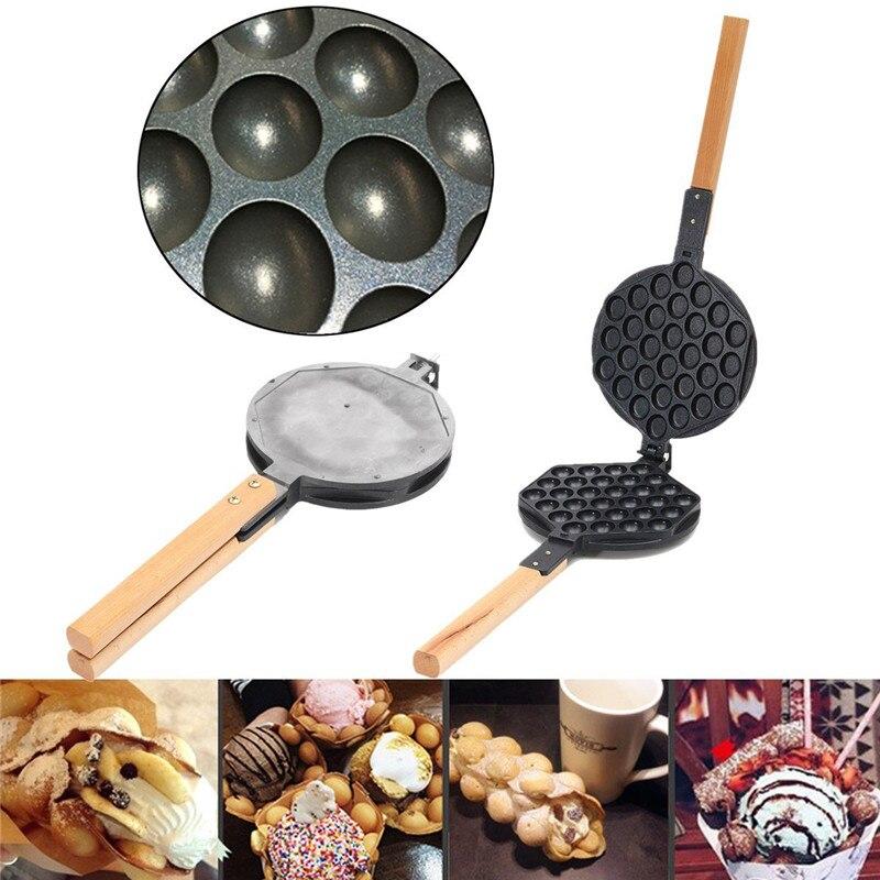 Stove Top Nonstick Hongkong Egg Puff Iron Eggettes Egg Waffle Pan Wafer Egg Makers стоимость