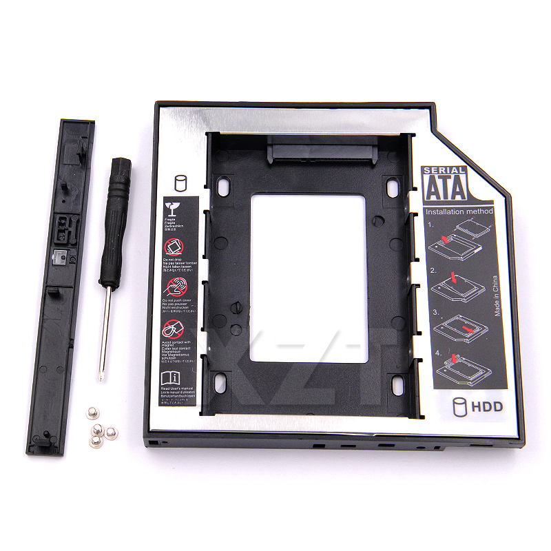 SATA 3.0 to Sata 2nd HDD Caddy Tray Hard Drive 12.7mm SSD Case Enclosure Optibay for IBM Lenovo Thinkpad R500 T420 T430 T520