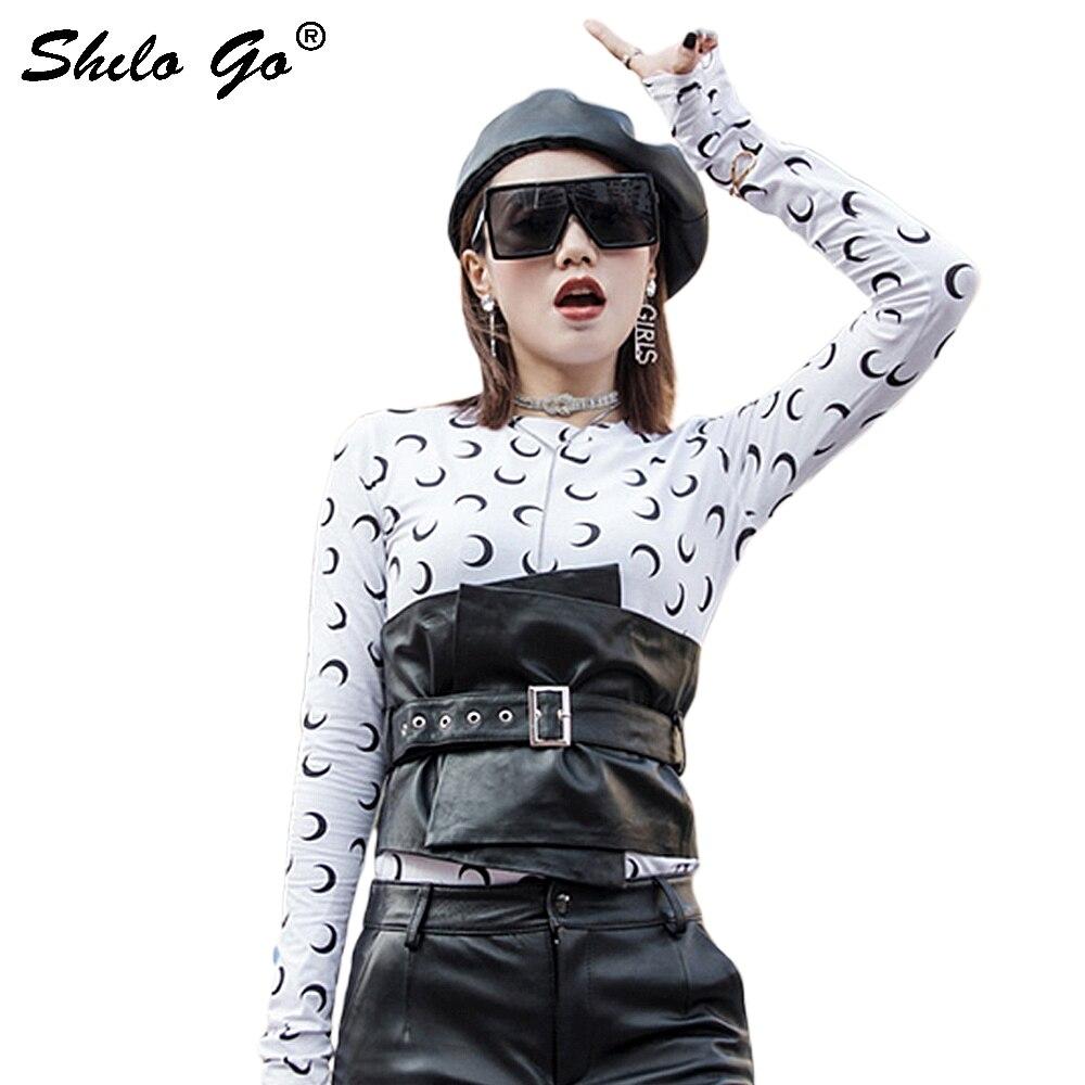 Streetwear cuir ceintures femmes mode métal à lacets en peau de mouton véritable cuir large ceintures concis décontracté femme asymétrie ceintures