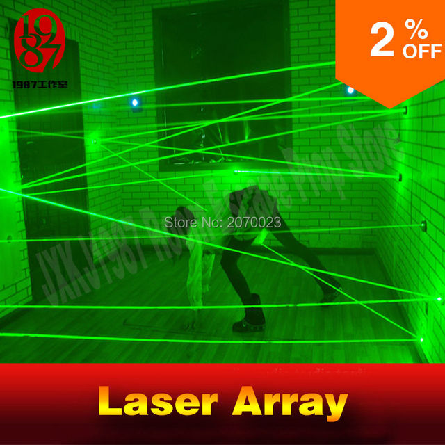 laser array for escape room game adventurer prop laser maze for Chamber of secrets game intresting and risking green laser game