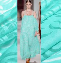 A memory of irregular wave totem cotton blended yarn Eugen translucent fabric