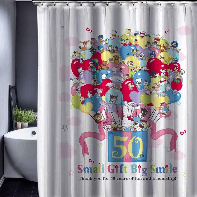 Hello Kitty Patroon Douchegordijnen Waterdicht Polyester