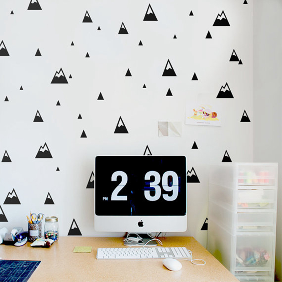 popular mountain wall decalbuy cheap mountain wall decal lots  - mountains pattern wall decal  modern nursery wall sticker nature smallmountains kids room wall decor