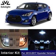 Edis светильник, 8 шт., белый светодиодный светильник, голубые автомобильные лампы, интерьерная посылка, набор для 2012- hyundai Veloster, карта, купол, багажник, пластина, светильник