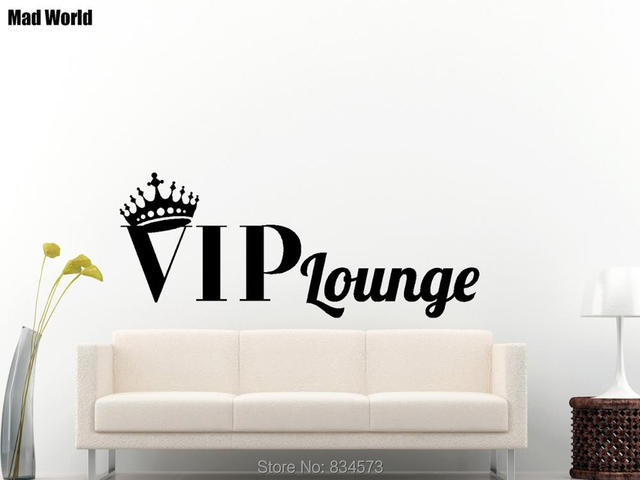 Pazzo mondo b vip lounge crown wall art stickers da parete