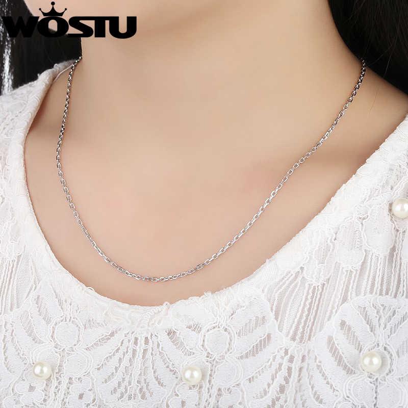 Wysokiej jakości 925 Sterling Silver 1.8mm łańcuchy naszyjniki nadające się do wisiorek urok dla kobiet mężczyzn luksusowe S925 biżuteria prezent DXA007
