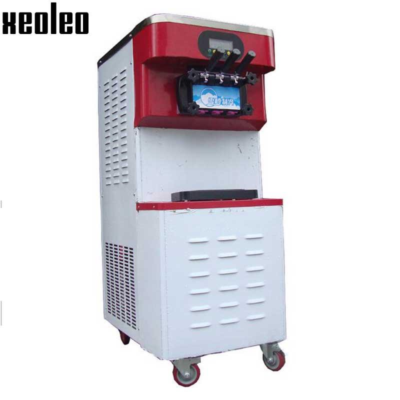 Xeoleo Commercial Ice cream machine 30-60L/H Soft Ice cream maker 3 Flavors Yogurt machine R404 110V/220V 2000-3500W Copeland  xeoleo three flavors ice cream machine commercial soft ice cream maker 18 20l h blue yellow pink 1hp yogurt ice cream 2000w