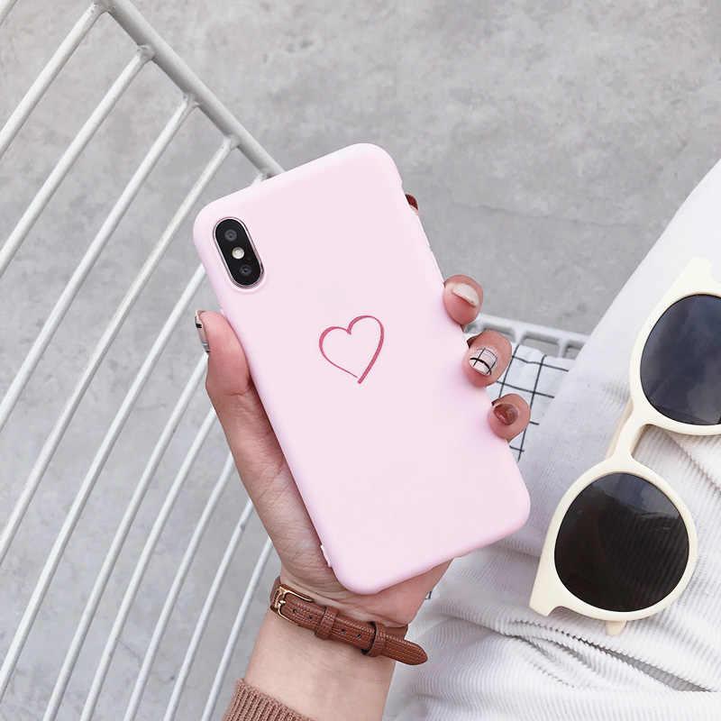 Симпатичные сердце любовь печати заднюю крышку для samsung Galaxy J3 J5 J7 2016 2017 ЕС Pro J2 J6 Премьер чехол мягкий силиконовый Кокс